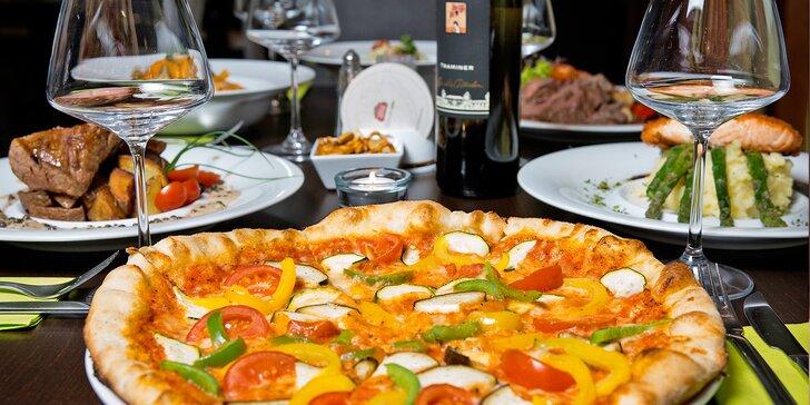 Otevřený voucher do italské restaurace Basilico na jídla v hodnotě 500 či 1000 Kč