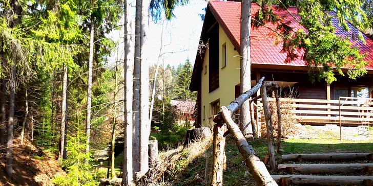 Skvělý pobyt až pro 12 os. v Beskydech na Chatě Čertovka a vstup do bazénu
