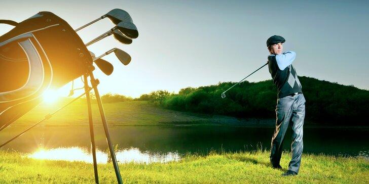 Zažijte golf: 2,5hod. golfový kurz pro 2 začátečníky s profesionálním trenérem