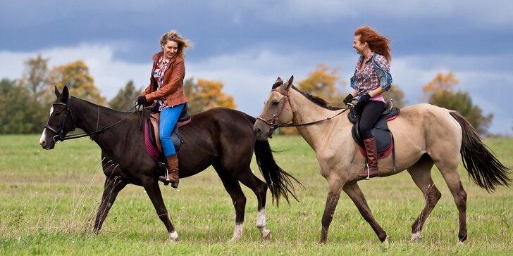 Pohlédněte na svět z koňského hřbetu - 45 nebo 90minutová vyjížďka do přírody