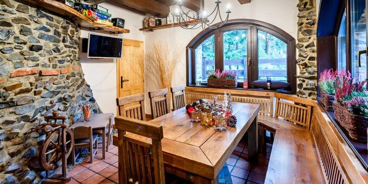 5denní pronájem luxusní wellness chaty v Beskydech až pro 10 osob