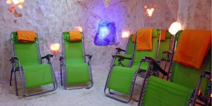 Relax i posílení organismu: 50 minut v solné jeskyni Fantazie