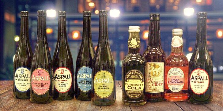 Degustační balení prémiových anglických ciderů Aspall a Dunkertons