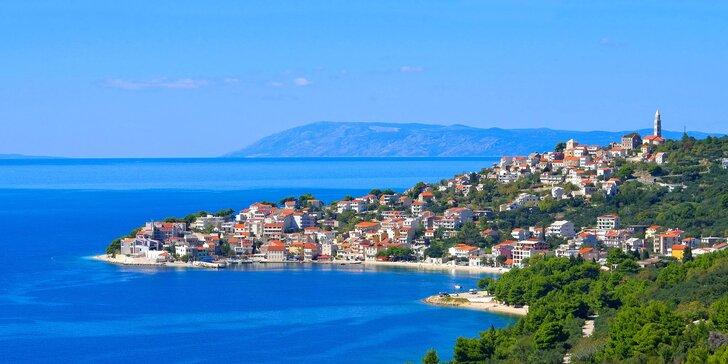 Léto v Chorvatsku: privátní apartmán 30 m od moře v oblíbeném letovisku Igrane