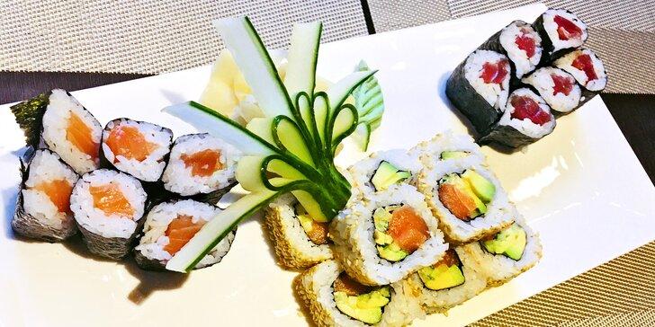 Dejte si dobrý oběd: sushi set s 20 kousky nebo Teriyaki burger suteki