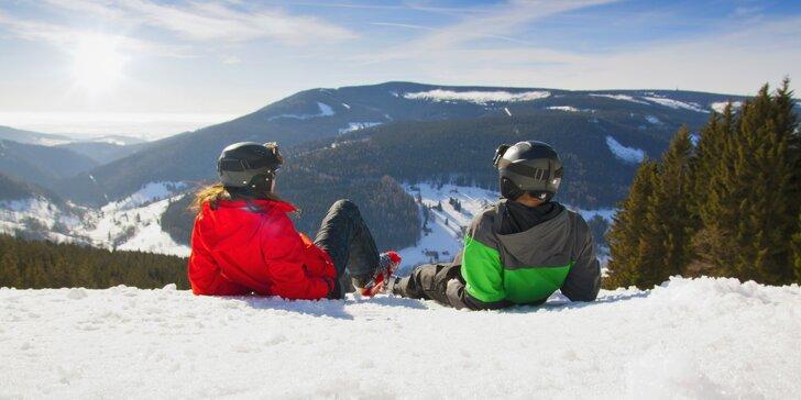 Jeseníky na lyžích: pobyt pro 2 vč. polopenze a 2denního skipasu