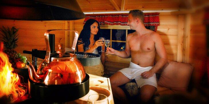 Pronájem finské grillkoty s ohništěm a saunou a Garra Rufa pro 4 osoby