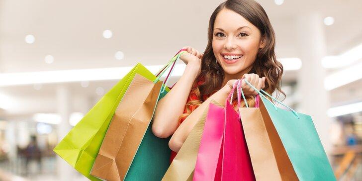 Otevřený voucher na nákup módních doplňků ze stánku v OC Flora