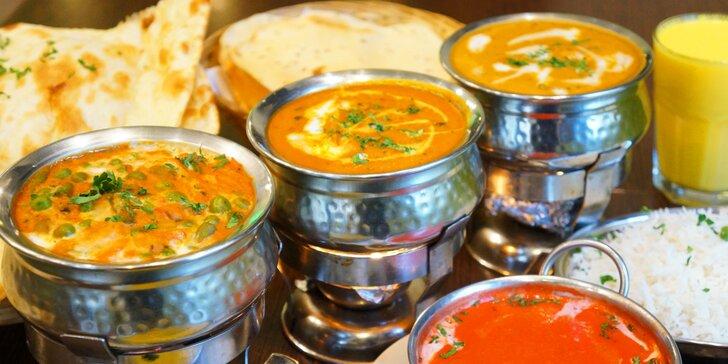 4chodové nepálsko-indické menu v masité i vegetariánské verzi pro 2