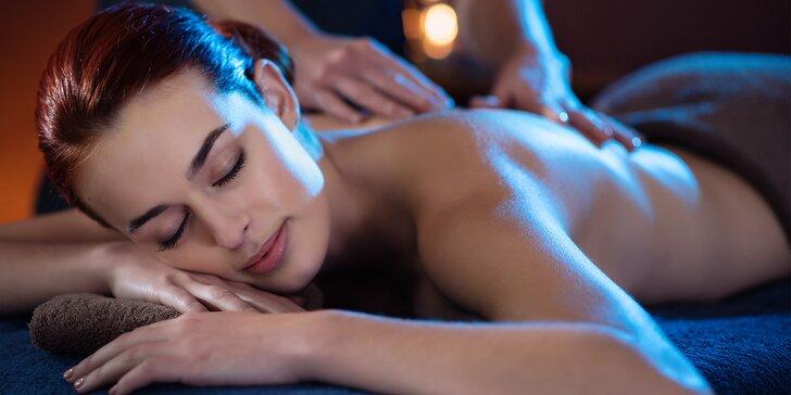 Relaxace při masáži zad, krční páteře a hlavy: 60 minut odpočinku
