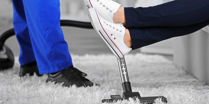 Nechte si mokrou cestou vyčistit 5místnou sedací soupravu nebo koberec do 45 m²