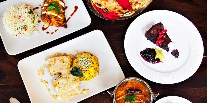 Degustační indické menu pro dva: na výběr i chody pro vegetariány