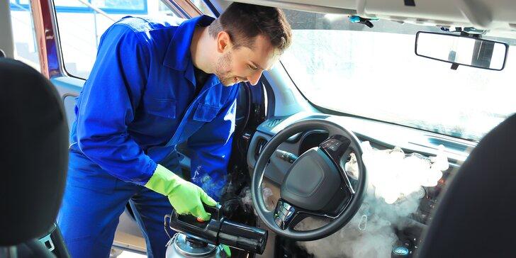 Jako nové: šetrné čištění auta horkou párou - na výběr exteriér i interiér