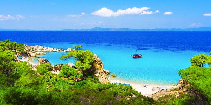 Řecký poloostrov Chalkidiki včetně dopravy a dětská cena až do 17,99 let