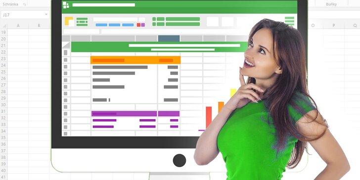 Online kurzy Excelu s neomezeným přístupem a certifikátem pro každého