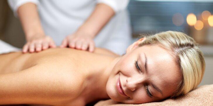 Prázdniny pro vaše tělo: relaxační i speciální masáže dle výběru