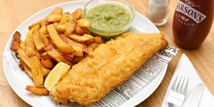 Originální britské fish & chips z tresky v OC Chodov: malé nebo velké menu