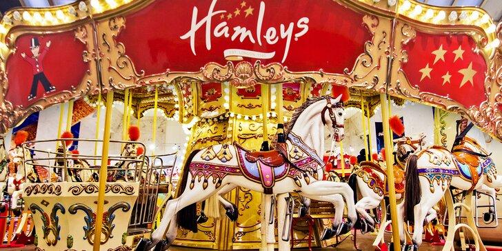 Neomezené roční využití atrakcí v Hamleys: kolotoč, bludiště, auta a další