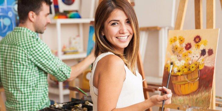 Zkušební lekce kresby a malby v uměleckém ateliéru