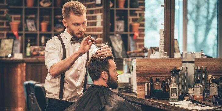 Exkluzivní balíček pro gentlemany: střih, holení i péče o pleť v barber shopu