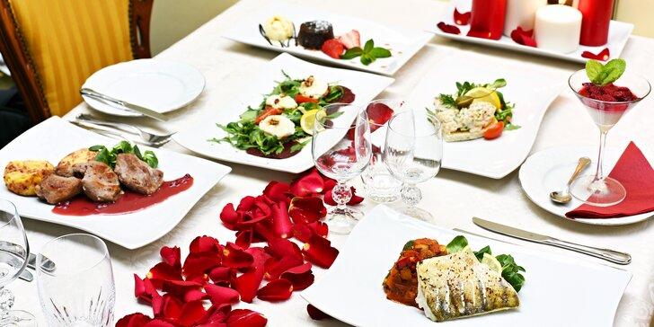 Romantická večeře pro 2 s výběrem chodů v luxusním 5* hotelu General