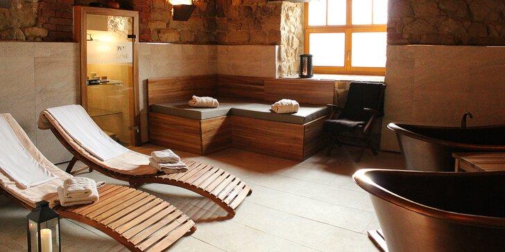 Lesní pobyt v apartmánu s prosklenou střechou, wellness a polopenze
