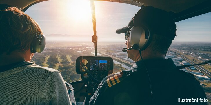 25 minut pilotování Cessny 172 nad Brnem a okolím i pro začátečníky