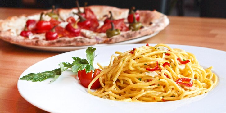Itálie na talíři: Skvělé těstoviny, risotto nebo pizza pro dva