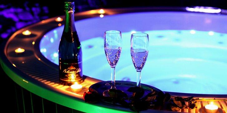 120 minut luxusní relaxace v privátním wellness s vinotékou a projektorem