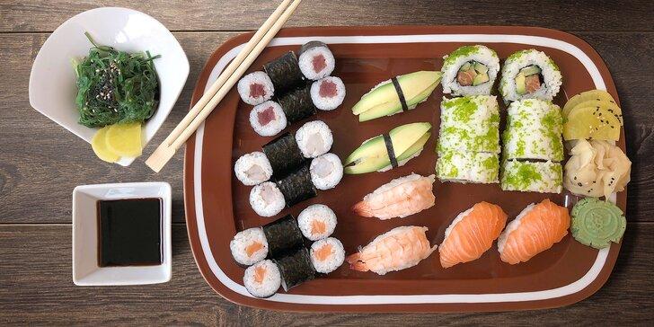 Svůdná tajemství asijské kuchyně: 22, 28 nebo 32 kousků čerstvého sushi
