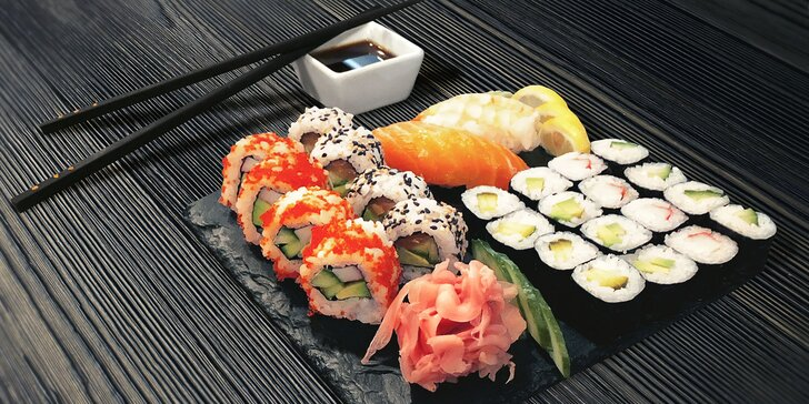 Sushi sety u Havrana: až 44 lákavých kousků s lososem, tuňákem či zeleninou
