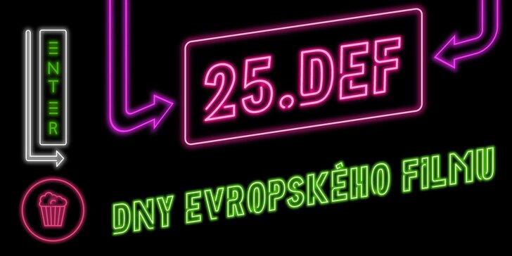 2 vstupenky na vybraný film z festivalu Dny evropského filmu