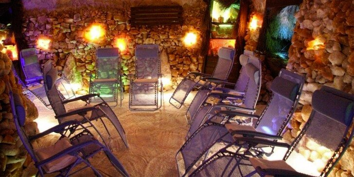 Blahodárný relax: vstup do solné jeskyně v Alžbětiných Lázních