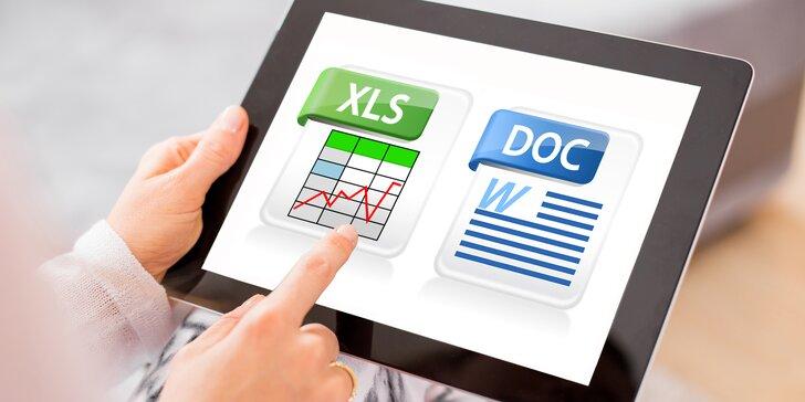 Online kurzy: naučte se hbitě pracovat v programech MS Excel a MS Word