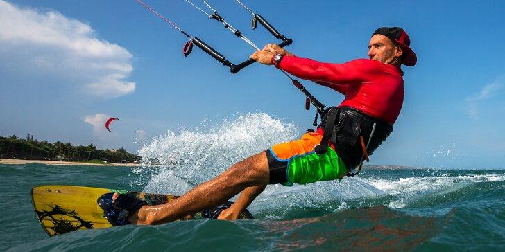 6hod. kurz landkitingu, kiteboardingu nebo snowkitingu na Lipně či Rujáně