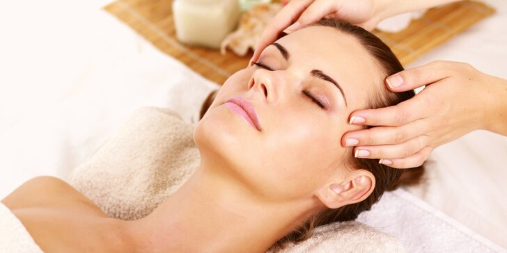 Povzbuzení mysli: Masáže obličeje či indická masáž - 60 minut