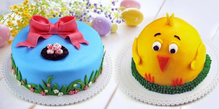 Vynikající čerstvé dorty z prvotřídních surovin s motivy jara a Velikonoc