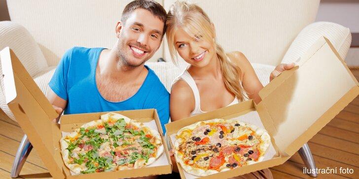 Dvě pizzy s osobním odběrem: na výběr z 10 druhů vč. tvarůžkové