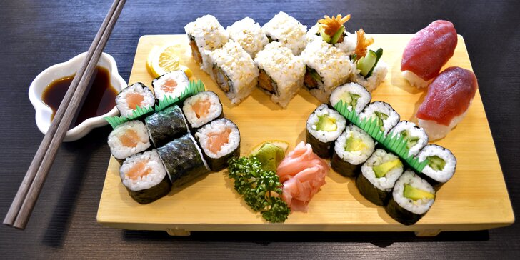 Sushi sety s až 40 kusy: tuňák, avokádo, krevety i chobotnice