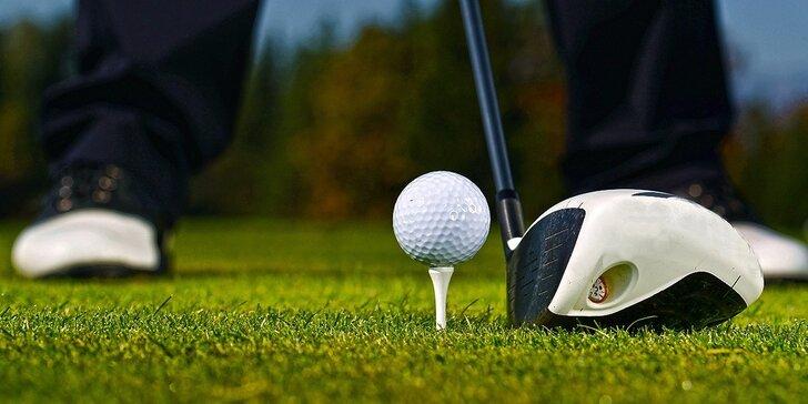 Individuální trénink golfu s trenérem pro 1–2 osoby včetně kompletní výbavy