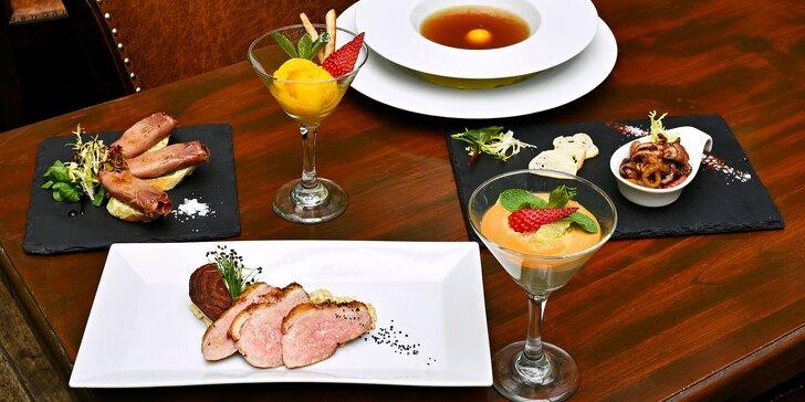 6chodové menu v La Bodeguita del Medio: chobotnička, kachní prso i sorbet