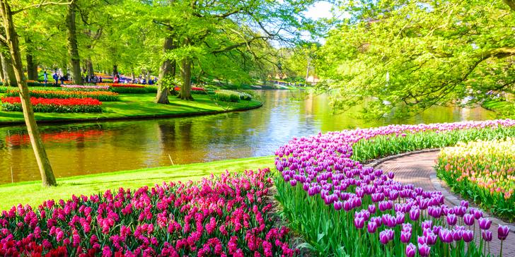 Hlavní symboly Holandska: Keukenhof, Amsterdam, Volendam, Zaanse Schans