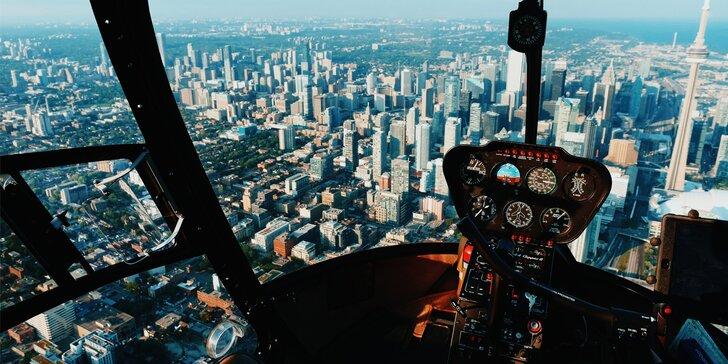 Staň se pilotem helikoptéry: Plně pohyblivý simulátor s 3D brýlemi