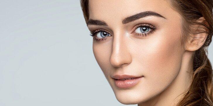 Kompletní kosmetické ošetření včetně úpravy a barvení obočí
