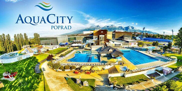 Celodenní vstupy do vodního i wellness světa v AquaCity Poprad