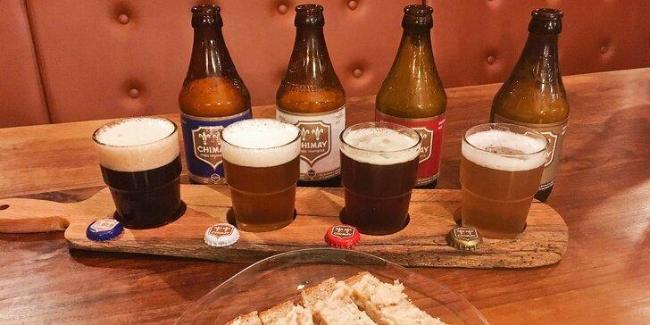 Degustace trapistických svrchně kvašených piv a staročeský chléb se škvarky