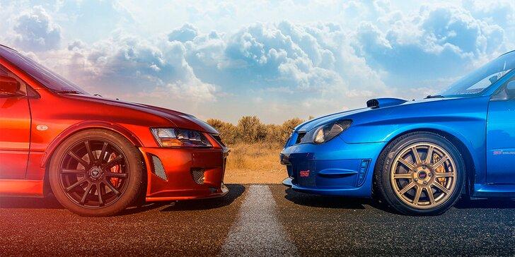 Zajeďte 6 nebo 12 závodních kol v Subaru Impreza a Mitsubishi Lance