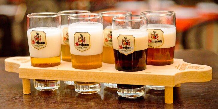 Pivní degustace pro 2 osoby: ochutnávka 6 druhů piv ze Svijan