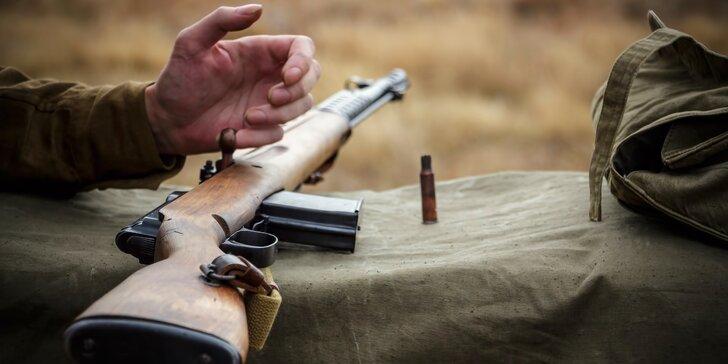 Autentický dotek historie: střelba z 5 či 8 zbraní 2. světové války