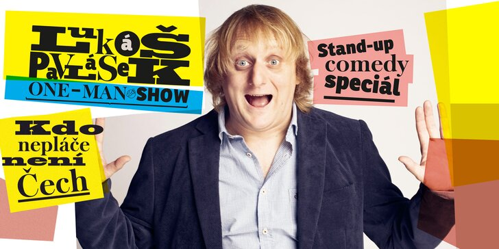 Vstupenka na stand-up comedy Lukáše Pavláska v Praze